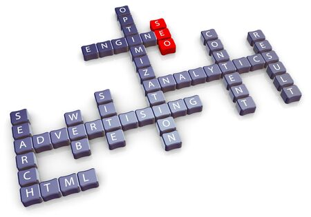 3d crossword of seo (search engine optimization photo