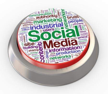 3d render of social media button Stock Photo - 11410801