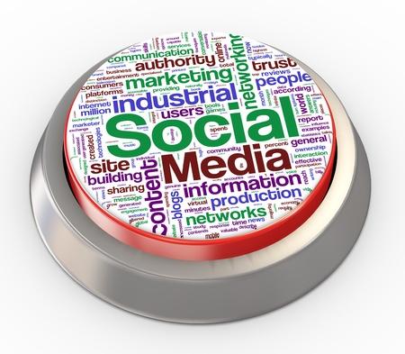 3d render of social media button Stock Photo - 11410801