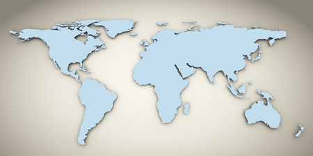 3d render of world map photo