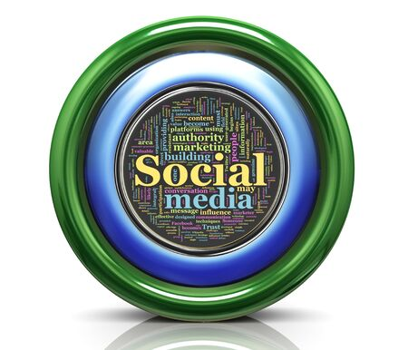 3d render of seo wordcloud button icon Stock Photo - 12078533