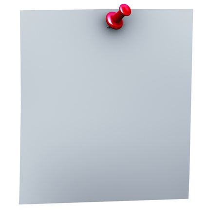 pin board: 3d render of red thumbtack closeup