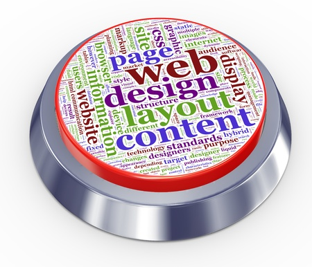 hypertext: 3d render of web design button