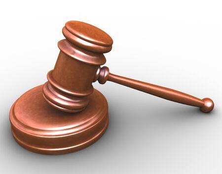 3d render of court room wood gavel Stock Photo - 12425213