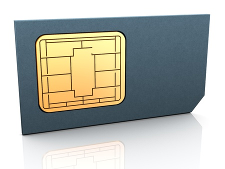 3d render of sim card Stock Photo - 12425239
