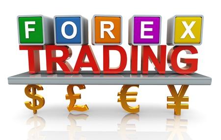 handel: 3D-Darstellung von Forex Trading-Konzept