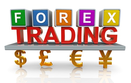 foreign currency: 3d render of forex trading concept