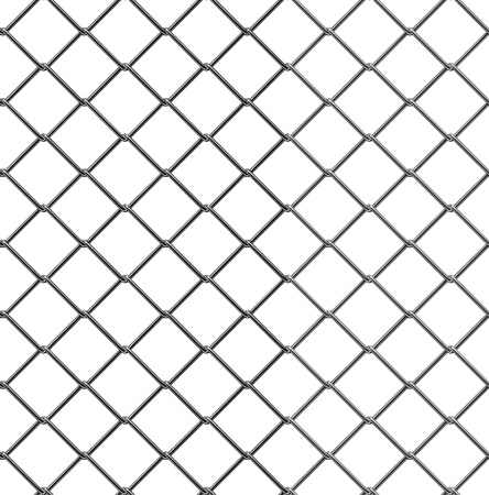 chain fence: 3d render of seamless fence chain