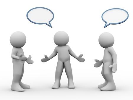 服用している人や議論の 3 d レンダリング