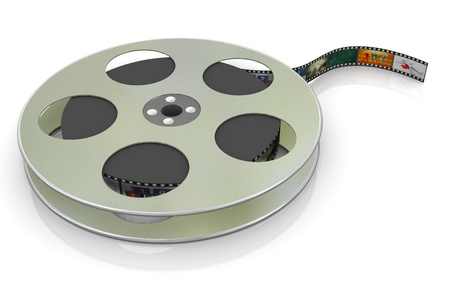 3d render of 16mm film movie reel photo