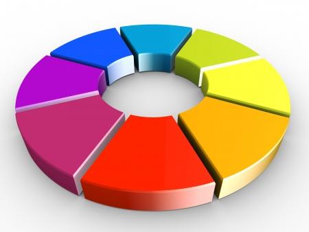 circulos concentricos: 3d de rueda de colores sobre fondo blanco