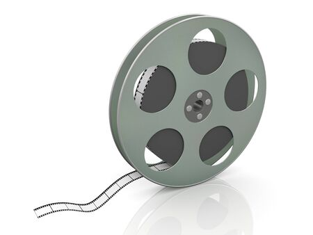 3d render of 36mm film movie reel photo