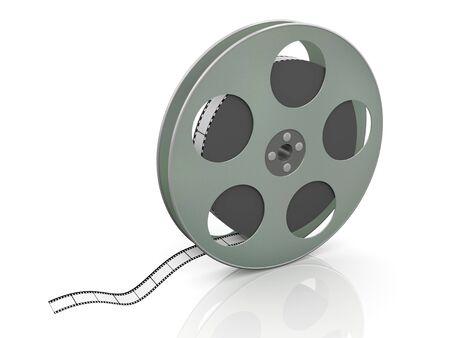 chronicle: 3d render of 36mm film movie reel