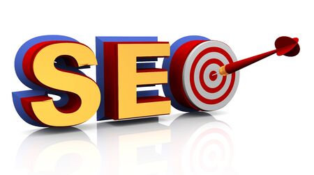 optimized: 3d render of target seo - search engine optimization