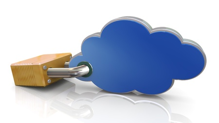 3d render of protected cloud computing concept  Stock Photo - 13505683