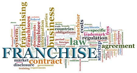franchise: Illustraton of wordcloud related to word franchise