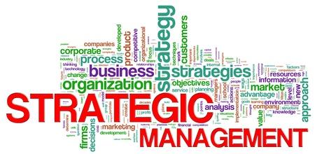 Illustration of Wordcloud representing strategic management concept Stock Illustration - 14232570