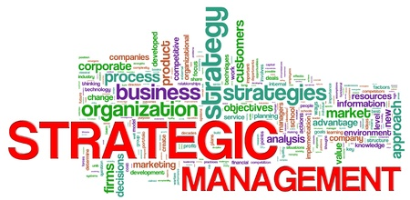 Illustration of Wordcloud representing strategic management concept Stock Illustration - 14232570