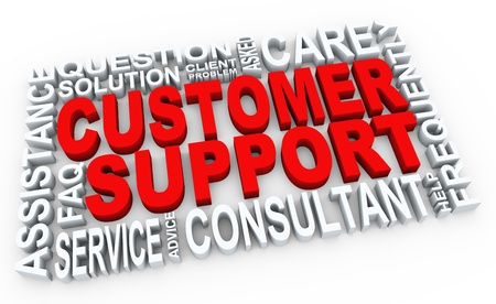 customer service representative: 3d render of words related to customer support concept  Stock Photo