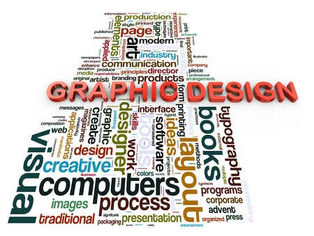 3d render of graphic design wordcloud tags Stock Photo - 14295998