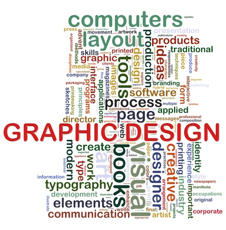 Illustration of wordcloud tags related to concept  graphic design  Stock Illustration - 14296004