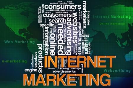 Illustration of wordcloud of web internet marketing concept Stock Illustration - 14296031