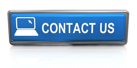 3d render of shiny reflective contact us button Stock Photo - 14520241