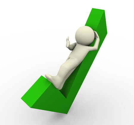 the concept is correct: 3d render of man lying on check mark  3d illustration of human character