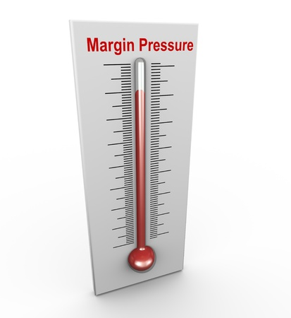 margin: 3d render of buzzword margin pressure thermometer