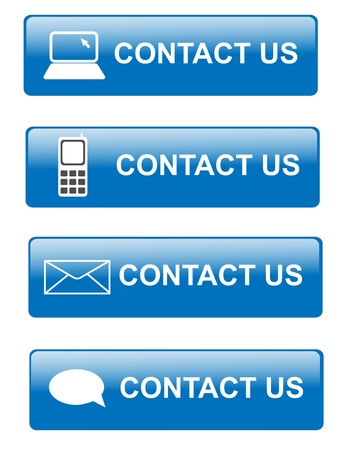 contacting: Illustration of various way for contacting customer support