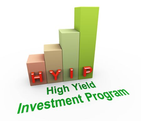progress bar: 3d render of concept of hyip  high yield investment program