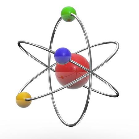 orbital: 3d illustration of orbital atom on white background