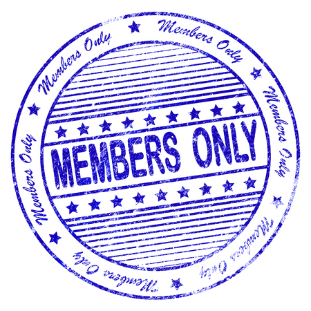 became: Illustration of blue grunge rubber stamp with phrase members only Stock Photo