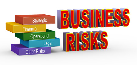 risk ahead: 3d illustration of concept of business risk management Stock Photo