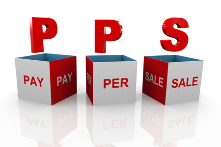 cpl: 3d illustration of acronym pps pay per sale Stock Photo