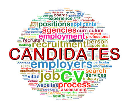work experience: Illustration of circular word tags wordcloud of candidate