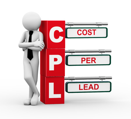 cpl: 3d rendering of business person standing with cpl Stock Photo