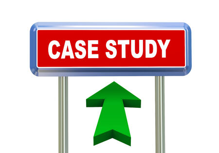causation: 3d rendering of moving arrow and roadsign signpost of concept of case study