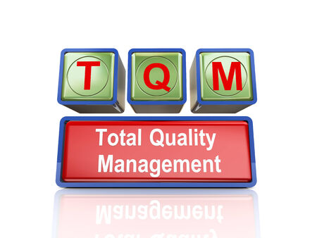 buzzword: 3d rendering of reflective boxes buzzword tqm  - total quality management