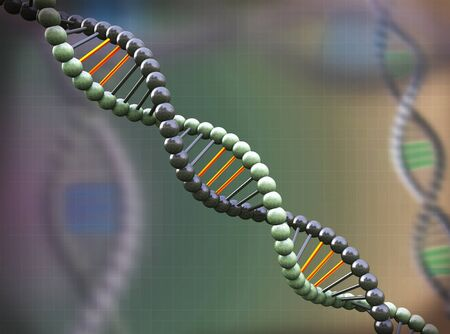 genomes: 3d rendering of abstract molecular dna background backdrop