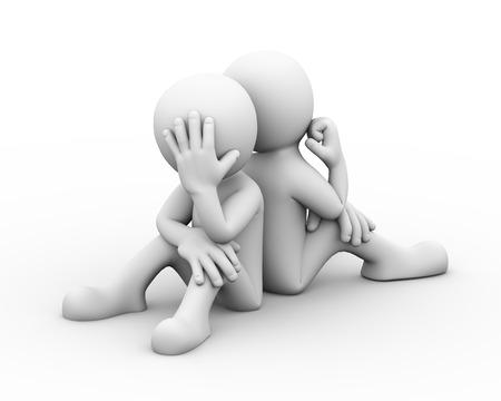 3D-Rendering-Konzept von Konflikten und Streit zwischen Paar. 3D-weiße Person Personen Mensch Standard-Bild - 37423556