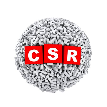 3d rendering of csr cubes boxes inside sphere ball made up of random alphabet character letter photo