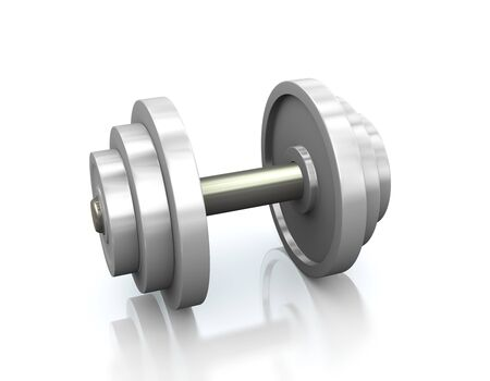3d rendering of closeup of dumbbells.