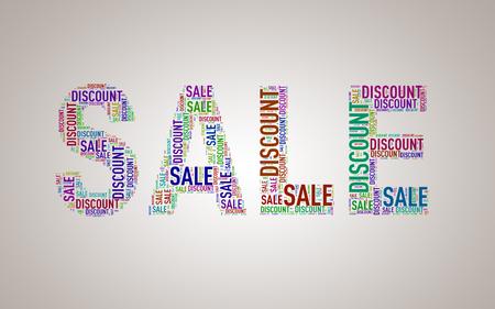Illustration of special sale shape discount wordcloud wordtag Stock Illustration - 73037760