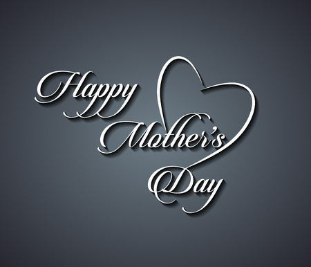 Illustration of beautiful calligraphic typographic design of mother happy mothers day text