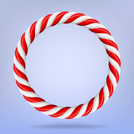 Vector 3d design rendering of circular candy circle cane frame Ilustracja
