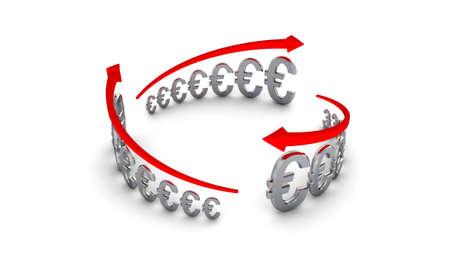 Diagram of business success, silver euros circle Banque d'images - 9104880