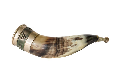 Drinking horn isolated on white background