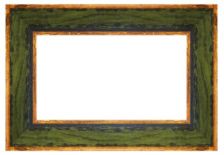 green vintage frame on a white background, isolated Reklamní fotografie
