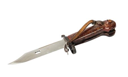 Hunters knife on white background, isolated